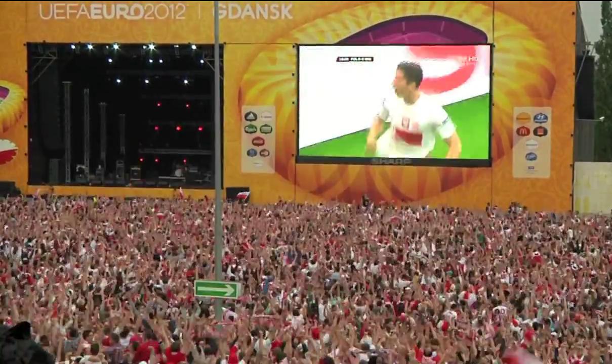 gol Roberta Lewandowskiego w meczu Polska-Grecja