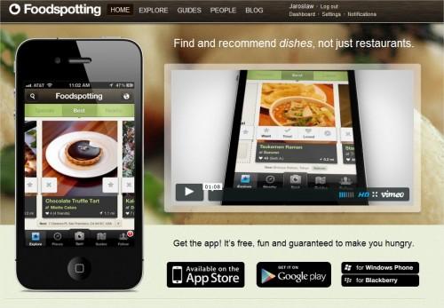 Dzięki aplikacji Foodspotting znajdziesz najlepsze potrawy w okolicy i dania polecane przez twoich znajomych