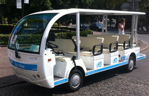 Sopot linia turystyczna Eco Line. 14 osób jednocześnie może podróżować po sopockim kurorcie ekologicznym pojazdem