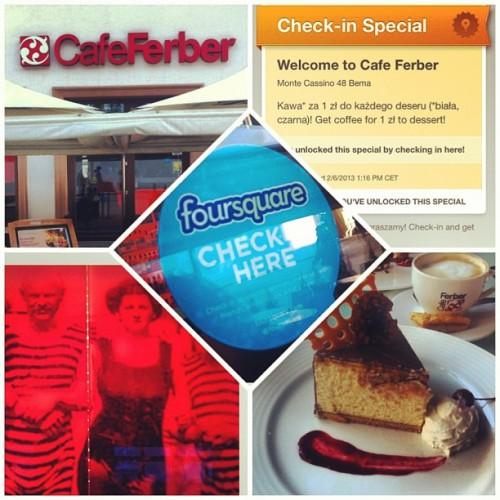 Kawa za darmo za check-in na Foursquare w Cafe Ferber