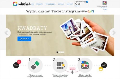 Instadruk to drukowanie zdjęć z Instagramu. Wysyłka bezpłatnie
