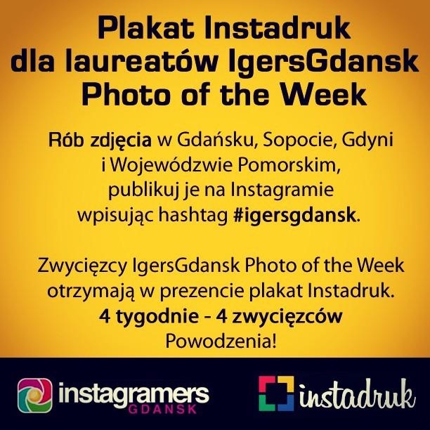 Instadruk i IgersGdansk konkurs na Instagramie. Najlepsze zdjęcia nagrodzone plakatem