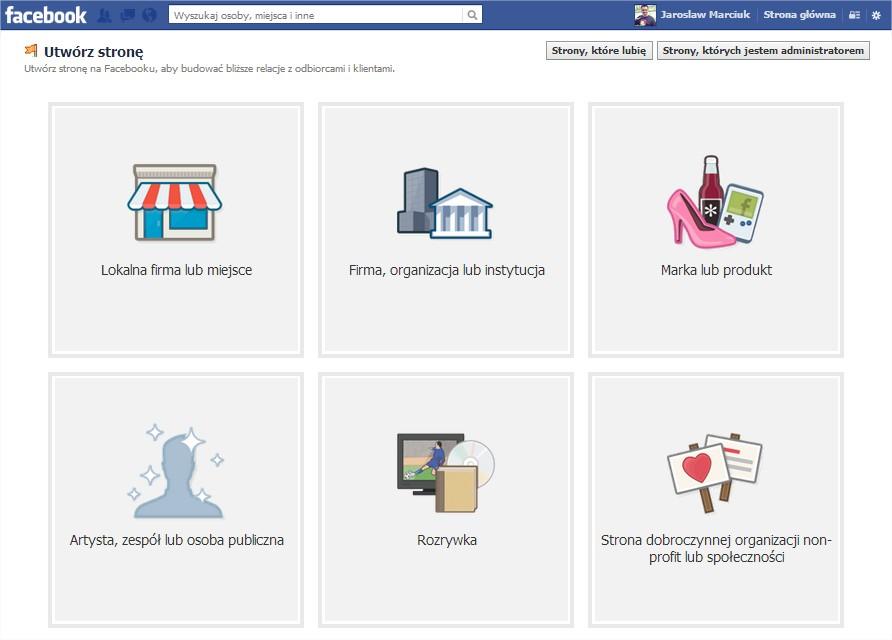 Jak założyć fanpage stronę na Facebooku
