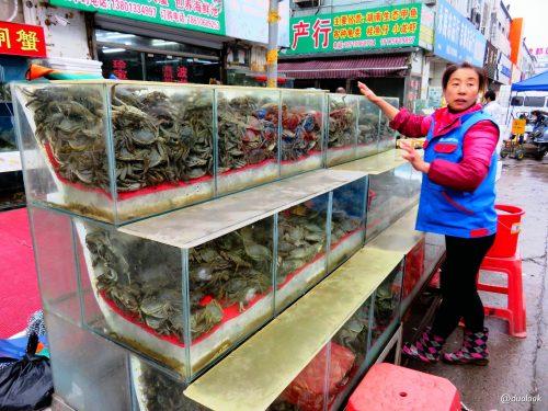 Chiny targ rybny w Pekinie