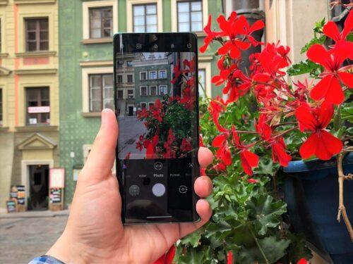 LG Velvet smartfon mobilny fotograf zdjęcia z telefonu